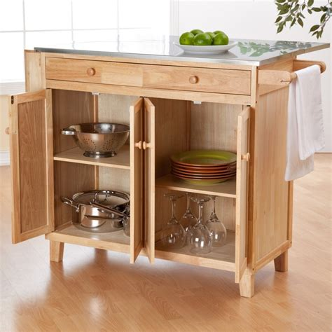 Belham Living Milano Stationary Kitchen Island With