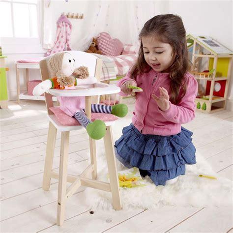 chaise haute en bois pour poup 233 e meubles de poup 233 es id 233 es cadeaux klissmarket