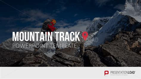 mountain track powerpoint template