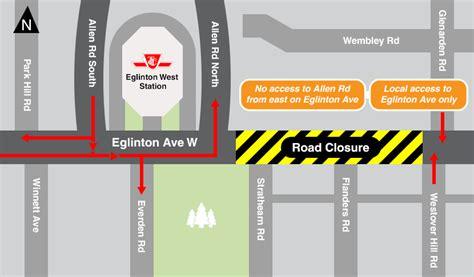 Dan Allen Parking Deck Free Hours by Eglinton Avenue West Road Closure July 8 To July 11 2016