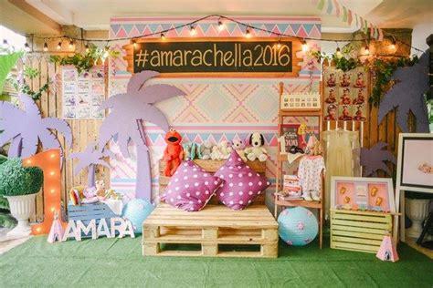 amaras coachella themed party st birthday coachella
