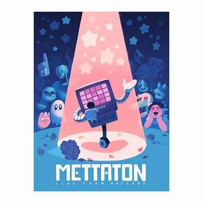 Mettaton Undertale Hotland Poster Fangamer Tarot Metaton