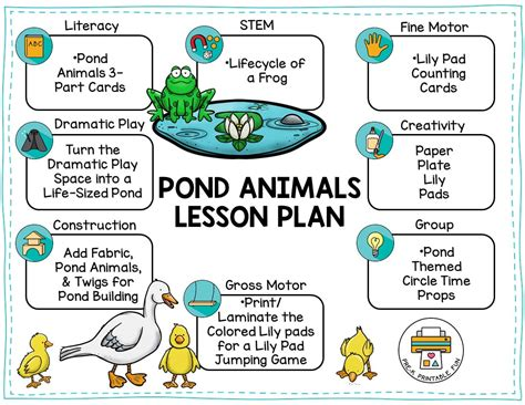pond animals pre k printable 122 | pond preschool lesson plan orig
