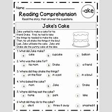 Reading Comprehension Passages & Questionslong Vowel Familiesdifferentiated  **fun And