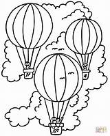 Coloring Balloon Air Pages Printable Popular Simple sketch template
