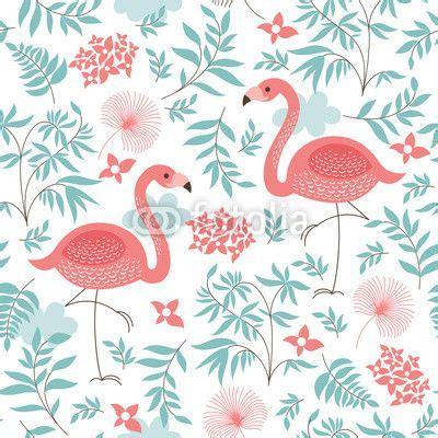 wall mural seamless pattern   pink flamingo photo