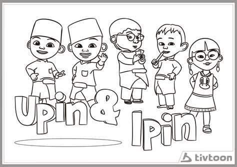 ipin gambar upin coloring pages print coloring