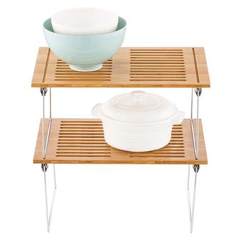 Stacking Shelf by Bamboo Shelf Medium Bamboo Stackable Shelf The