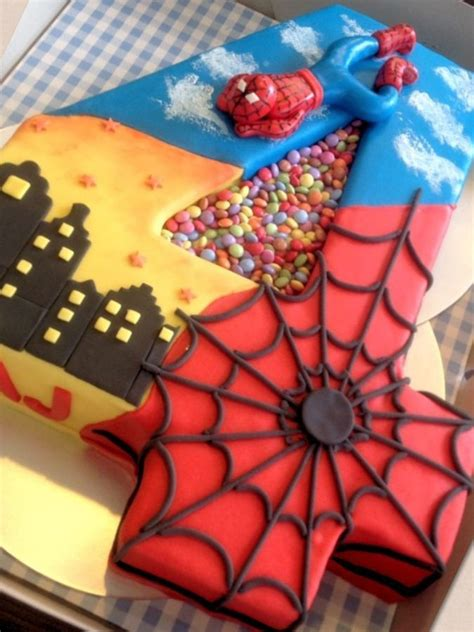 childrens birthday cakes spiderman birthday cake