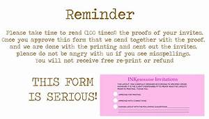 inkpressive invitations With wedding invitation rsvp reminder wording