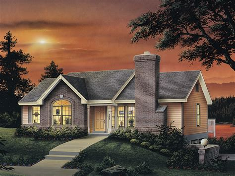 lakeview cape  ranch home plan   house plans