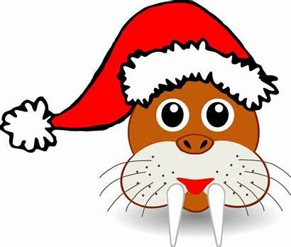 Clipart Svg Radom Walrus Santa Random Clip