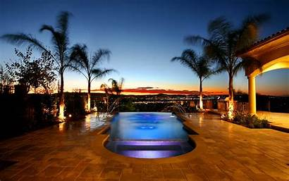 Luxury Pool Wallpapers Romantic Landscape Modern Nature