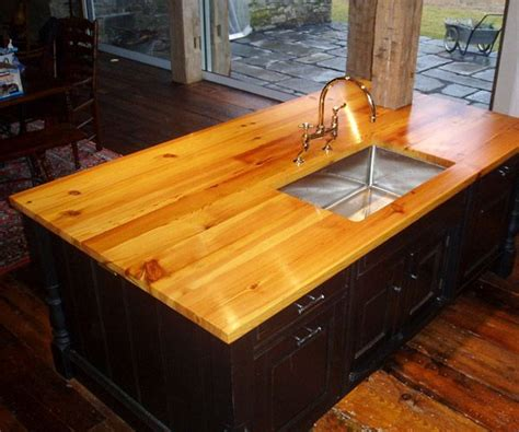 wide plank pine 1 1 2 quot antique pine island top color with