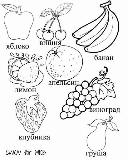 Printables Fruits Vegetables Russian Fruit Languages Multilingual