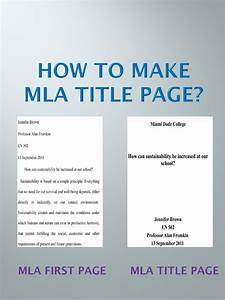 proper cover page format