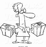 Parcel Cartoon Outline Pages Template Packages Leishman Coloring sketch template