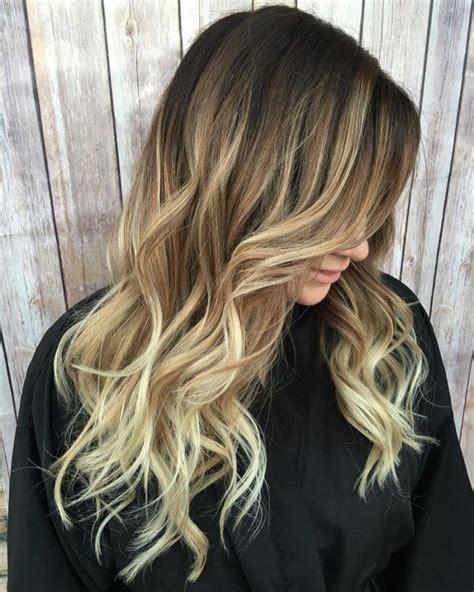 braune haare ombre ombre blond braun spitzen lange haare locken haare in 2019