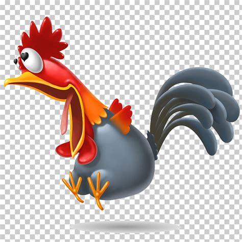 Ilustración de gallo rojo y gris gallo gallo ver el