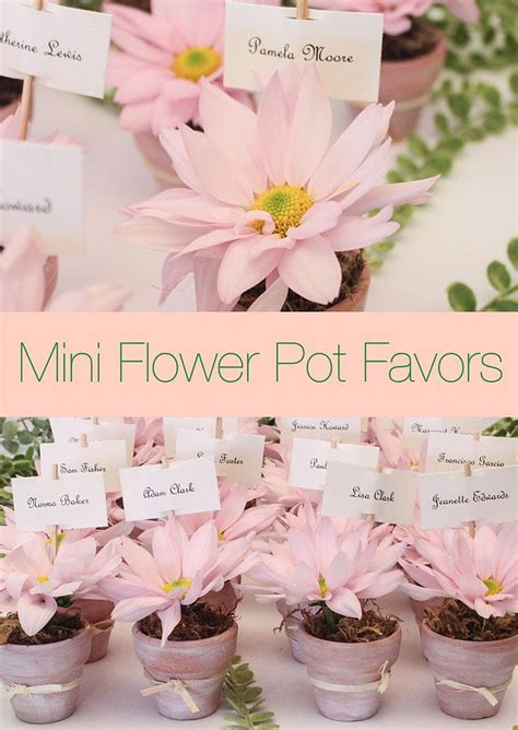mini flower pot favors spring escort table miami party