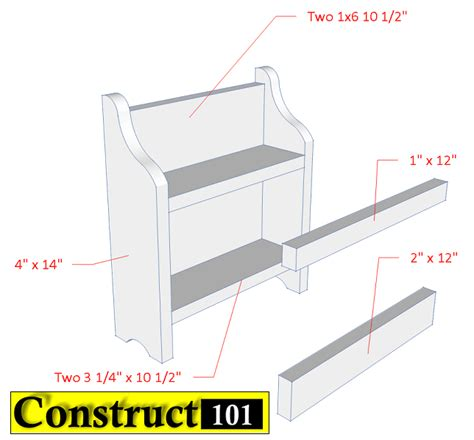 Spice Rack Building Plans by Diy Spice Rack Free Plans Pdf Construct101
