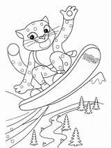 Coloring Snowboarding Printable Ausmalbilder Schneeleopard Malvorlagen Bright Choose Colors Favorite Zum sketch template