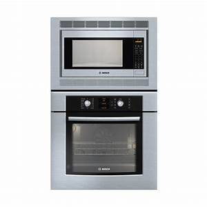 Shop bosch 29 3 4 in microwave wall oven combo stainless for Wall oven microwave combo