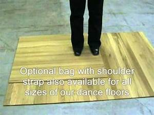 portable rollout dance floor reviewwmv youtube With fold out dance floor