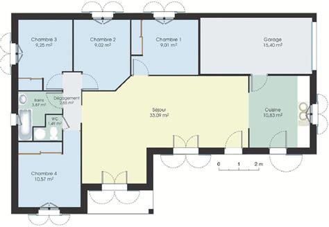 plan maison plain pied 3 chambres en l cheap plan maison gratuit plan de maison moderne