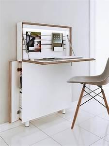 Sekretär Modern Design : designer schreibtisch als platzsparer modern home ~ Watch28wear.com Haus und Dekorationen