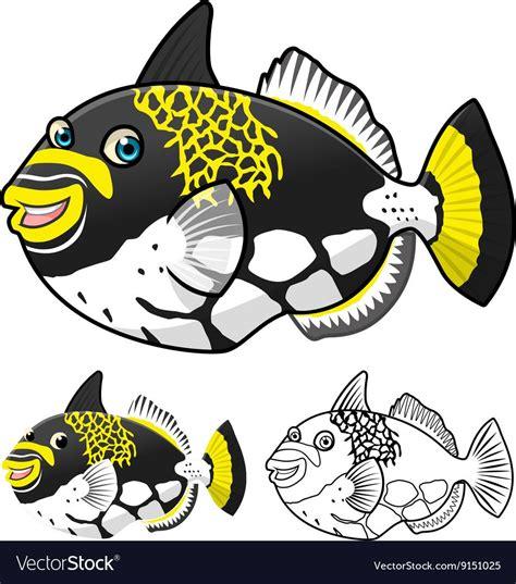 trigger fish royalty  vector image vectorstock