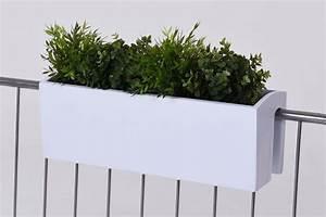Balkonkasten Halterung Geländer : balkonkasten blumenkasten fiberglas balkona classic 60 cm wei ~ Watch28wear.com Haus und Dekorationen