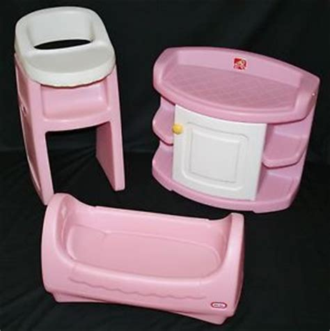little tikes child size pink baby doll cradle high chair