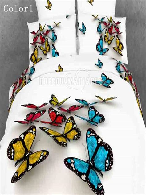 housse de couette 3d pour deux personnes d 233 cor 233 e par les papillons robe2012778