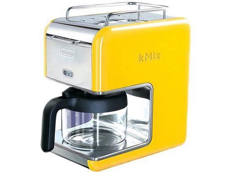 delonghi dcmyellow yellow  cup kmix drip coffee maker