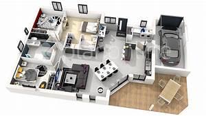 maison centi With lovely plan maison 3d gratuit 1 maison familale detail du plan de maison familale