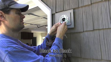 exterior light installation on vinyl siding block
