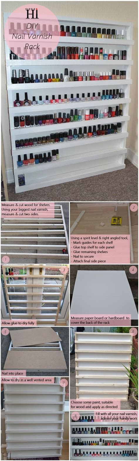 diy nail rack 40 awesome makeup storage designs and diy ideas for 2017