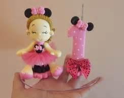 topo de bolo minnie rosa elo7