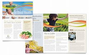 Health insurance company newsletter template design for Health and wellness newsletter template