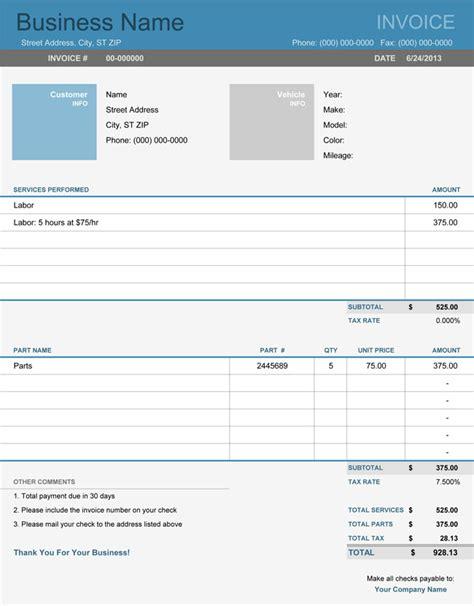 7 invoice template excel ledger paper