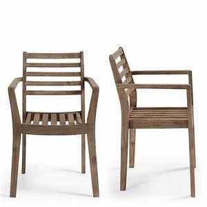Fauteuil En Bois : chaise de jardin en bois massif style contemporain rekely ~ Teatrodelosmanantiales.com Idées de Décoration