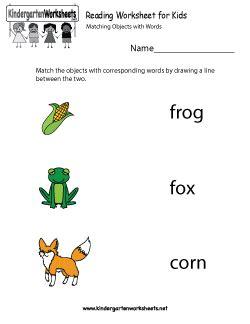 reading worksheet  kids  images worksheets