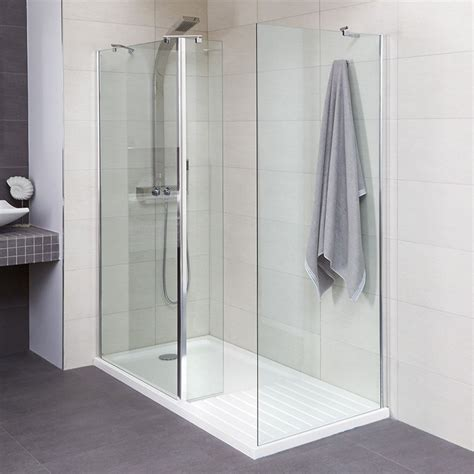 Step In Shower Enclosures by Aqualine 1400 Walk In Shower Enclosure With Tray