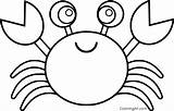 Crab Coloring Pages Cartoon sketch template