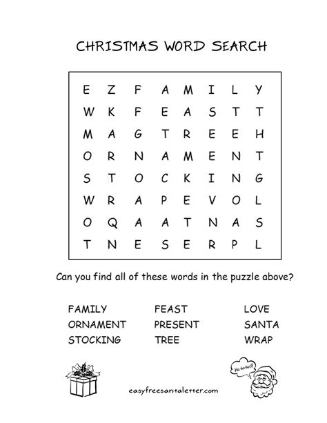 Free Printable Christmas Word Search!  Coloring And Activity Pages At Letters From Santa Www