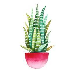 Print of original watercolor painting of a cactus, succulent. ombre pot, stripes, green, mint, botanical, art, drawing, illustration, pink