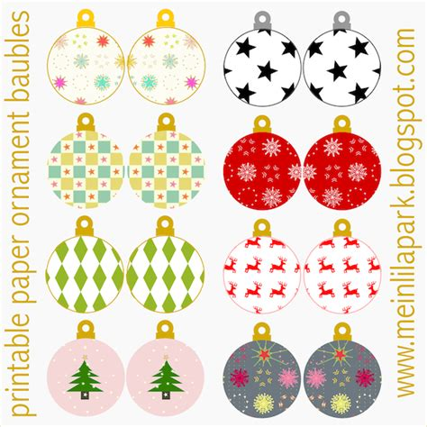 best photos of printable christmas paper ornaments free