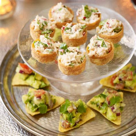canape filling ideas crab mayo croustades housekeeping