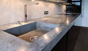 Beton In Form : arbeitsplatte aus beton 2 material raum form ~ Markanthonyermac.com Haus und Dekorationen